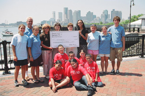 Project Bread presents a check to a Summer Food program