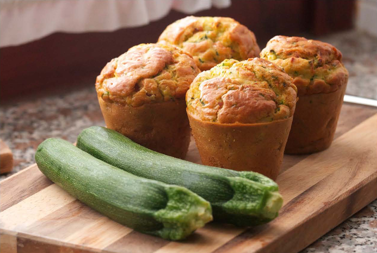 Loaded with Zucchini Muffins