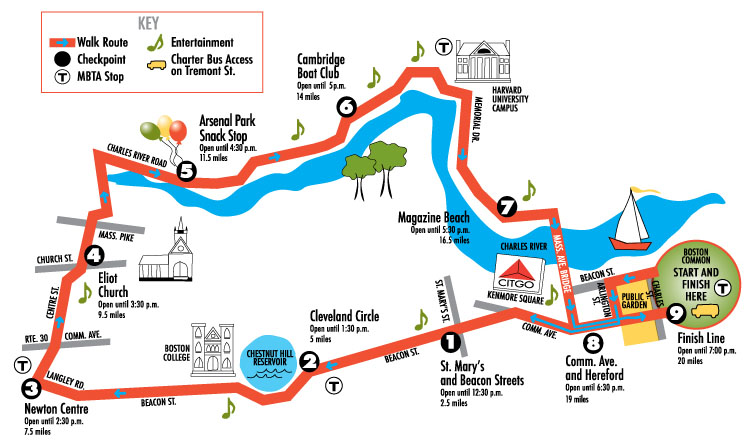 2012 Walk Route Map