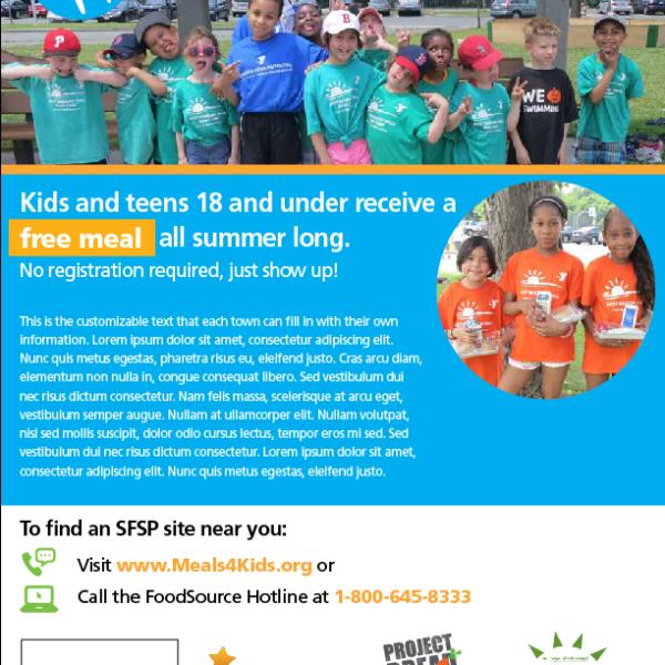 Customized SFSP flyer template