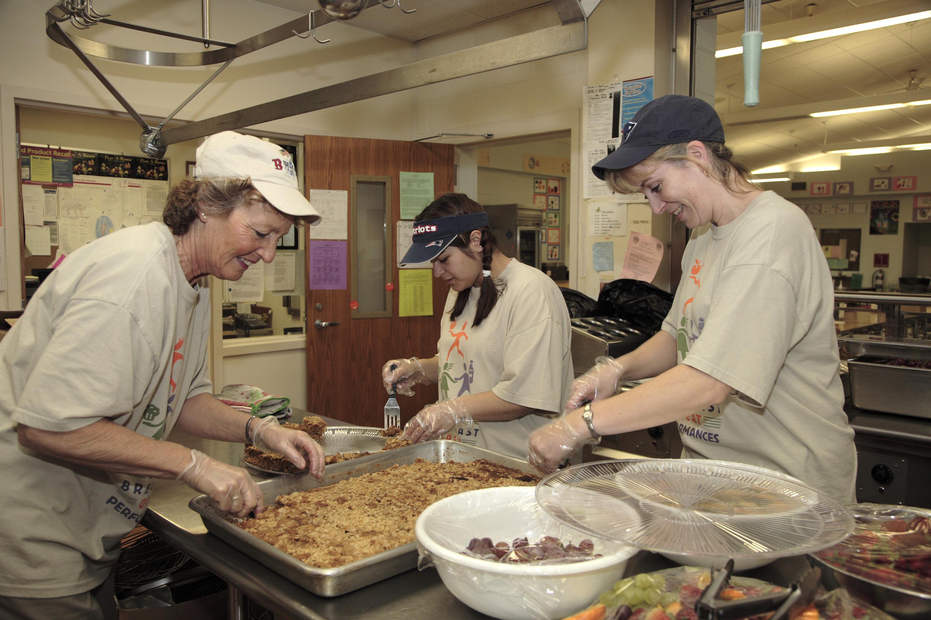 cafeteria staff orange elementary